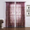 新古典主義の二つのパネル花柄の植物赤いベッドルームポリエステル薄手のカーテンシェード
