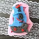 海賊のボート形BakeFondantケーキ型、L8cm * W5.8cm * H1.5cm