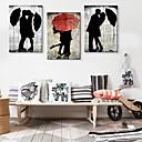 Reprodukce na plátně Art Lover In The Rain Sada 3