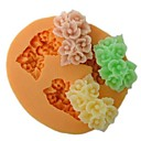 tři díry květ ve tvaru péct fondant bábovka, l6cm * w5.3m * h1.5cm