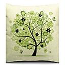 美しい春の木の綿/リネン装飾枕カバー
