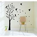 jiubai ™ veliko stablo i ptice na zid naljepnica zid decal, 165cm visine