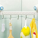 Bathrrom Suction Zid Pet Linked Hook bijele plastike