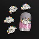 10pcs ljepota paun širenje rep pribor DIY legure bižuterija nail art ukras