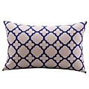 Trellis White Cotton/Linen Decorative Pillow Cover