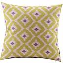 草の緑のダイヤモンドコットン/リネン装飾枕カバー