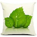 Proljeće ostavlja pamuk / platno dekorativni jastuk poklopac