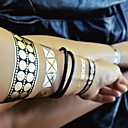 1pcs narukvica ogrlica nakit inspiriran metalik zlatna srebrna i crna tetovaža naljepnice privremene tetovaže