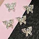 10pcs leteći leptir puna kristala Rhinestone 3d legure nail art ukras