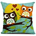 cartoon milovníci sov bavlna / len dekorativní polštář