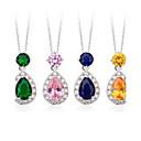 mosaz pozlacenou á s kubickým zirkonem kapky náhrdelníky (více barev)