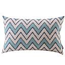 plava zigzag pamuka / lana ukrasne jastuk pokriti