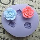 tři květiny pečení fondant dort čokoládové bonbóny forma, l4.5cm * w4.5cm * h1cm