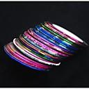 30pcs mixs boja zavojnica linija noktiju pruga traka nail art ukras naljepnica