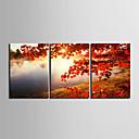 Protezala Canvas print umjetnosti Pejzaž Tree by jezeru Set od 3