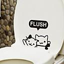 karikatura kotě WC nálepka