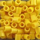 子供のための約500個/袋5ミリメートル黄色perlerビーズヒューズビーズ浜ビーズDIYのジグソーパズルEVA素材のセーフティ