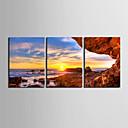 Reprodukce na plátně umění Krajina břehu Sunset Sada 3