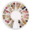 barevné perlové kovové nákližkem nail art dekorace