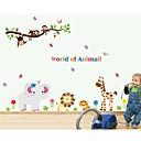 jiubai® kreslený zvíře opice dítě pokoj dekorace na stěnu Samolepka Lepicí obraz na stěnu
