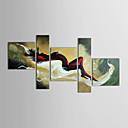 Ručně malované Lidé Pět panelů Plátno Hang-malované olejomalba For Home dekorace