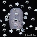 100pcs 3d pet zvijezda srebrni metal zakovice nail art ukras