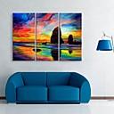キャンバス地は、3の空装飾画セットの色の芸術