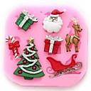 vánoční strom jelen Claus dort nástroje dárek fondán
