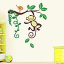 jiubai® kreslená opice zeď nálepka Lepicí obraz na stěnu