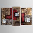 Håndmalt oljemaleri med abstrakt motiv på strukket ramme – sett på 3