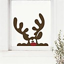 jiubai® vánoční soby na zeď nálepka Lepicí obraz na stěnu, 40 * 38