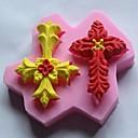 double-cross listy ve tvaru fondán dort čokoláda silikonové formy