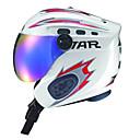 STAR® ヘルメット 男女兼用 スノースポーツヘルメット グーグルとのヘルメット / フルフェイス スポーツヘルメット ホワイト / レッド スノーヘルメット EPS / ABS樹脂 スノースポーツ / ウィンタースポーツ / スキー / スノーボード / スケート