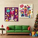 E-home® pruži platnu si šareni poklon sretni Božićni ukras slikarstvo set 2