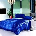 4 komada svile safir plava čisti pruga hotela isporuke duvet cover skup
