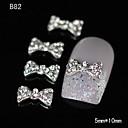 10pcs 3d vještački dijamant slatka leptir-mašna DIY legure nail art ukras