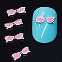 10pcs ružičaste naočale oblikovati legure 3d nail art ukras
