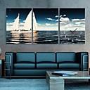 e-HOME® námořní plachty hodiny v plátěných 3ks