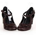 PU Koža 6.5cm visoka peta gothic Lolita cipele s zaredom