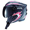 スターユニセックス黒&雪のゴーグルと赤い腹筋フルフェイスのスキー/スノーボード用ヘルメット