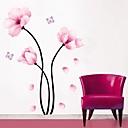 ウォールステッカーウォールステッカー、シンプルなピンクの花PVCウォールステッカー