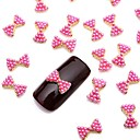 10pcs 3d svjetlucavim pink biser legure luk kravata nail art dizajn nakita za dnevnu DIY francuskom manikurom