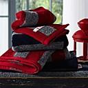 sensleep® 3pcs ručnika Pack, crna ili crvena pruga design 100% pamuk ruka ručnik