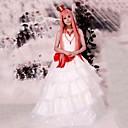 Inspirirana Vocaloid Megurine Luka Video igra Cosplay nošnje Cosplay Suits / Dresses Kolaž Bijela Bez rukavaHaljina / Headpiece /