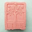 生活の木形のフォンダンケーキチョコレートシリコーン型