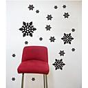 nástěnné nálepky na stěnu, moderní sněhová vločka pvc samolepky na zeď