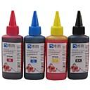 エプソンのインクカートリッジ100ミリリットル(4色1ロット)のためのエプソンCISSのリフィルに適しbloom®染料インク