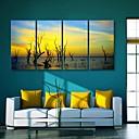 E-home® pruži platnu umjetnosti sumrak dekorativna slikanje set od 4