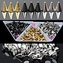 30pc zlaté a stříbrné a černé slitiny punkové kuželovitý nail art dekorace