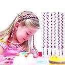 6PCS 24センチメートル紫色の子供の毛ロープ